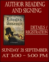 Author Reading and Signing. Sunday 21 September at 3 - 5 pm. details - registration